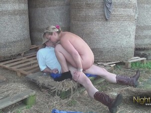german farmer bangs a town milf