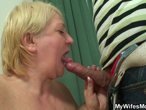 Horny blonde motherinlaw takes..