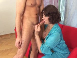 Russian Granny assfucked and..