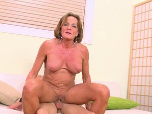 Big clitted Granny fucked in..