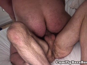 Bear barebacking cub after..
