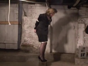 businesswoman trapped
