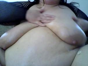 Creaming my big tits x