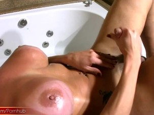 Latina tranny plays with her..