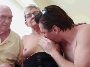 Old couple have 3some with..