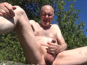 Grandpa wanking, peeing and..