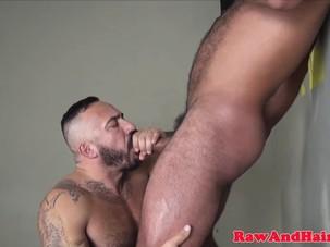 Muscular bears breeding and..