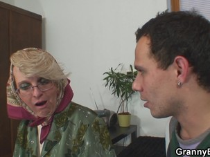Hot old mature woman pleases..