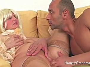 Granny vagina horny foreplay