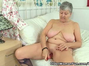English granny Savana loves a..