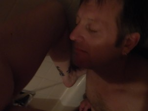 Giving him a Golden Shower!!