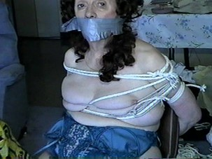 GILF Kathy tape gagged and..