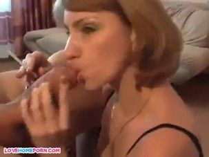 Sexy mature woman smoking and..