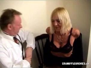 Blonde Gilf Gets Checked By A..