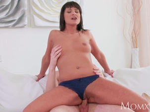 MOM Feisty brunette mom devours..